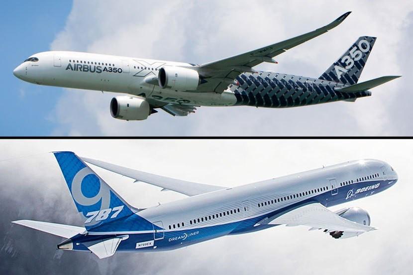 A350 ve B787