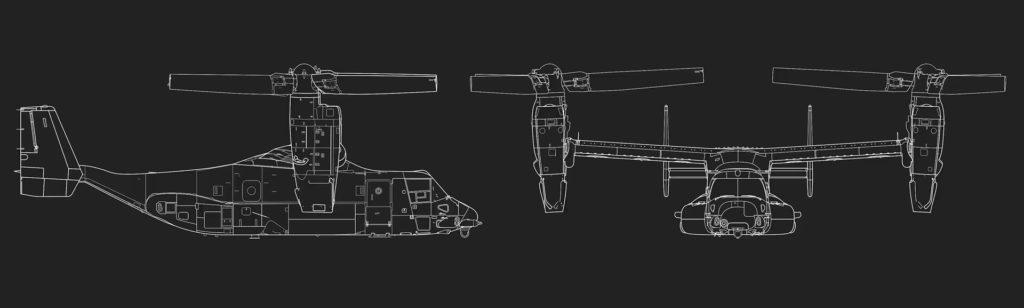 V-22 Osprey tasarımı
