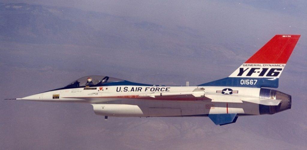 YF-16 uçağına ait bir fotoğraf