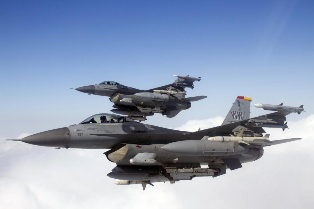 Amerikan Hava Kuvvetleri'ne bağlı F-16 Wild Weasel  (Vahşi Gelincik) uçakları