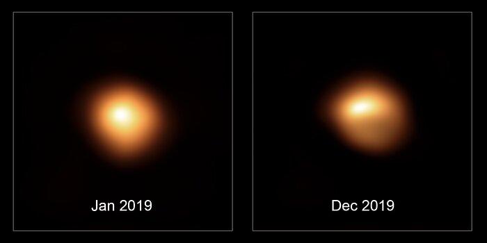 Betelgeuse yıldızının bir yıl içerisinde kaybettiği parlaklık
