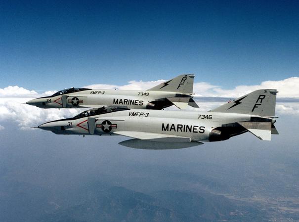 Birleşik Devletler Deniz Piyadeleri'ne ait F-4 Phantom II
