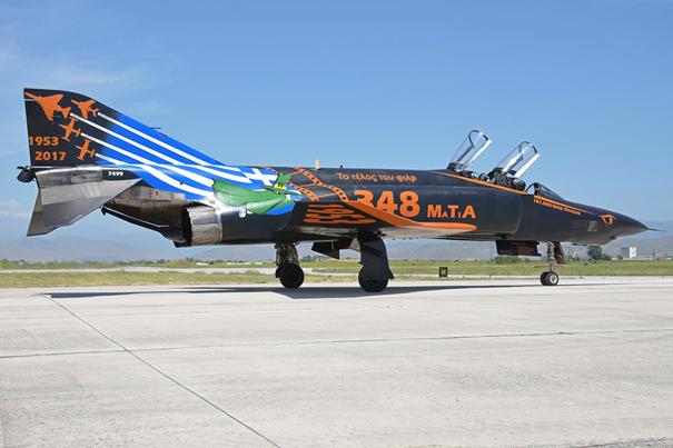 RF-4E'lerin jübile uçuşundan bir kare