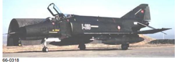 Peace Diamond III projesi kapsamında envantere giren F-4E Phantom II savaş uçağı