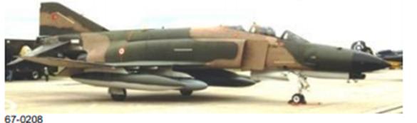 Peace Diamond IV projesi kapsamında envantere giren 67-0208 kuyruk numaralı F-4E Phantom II savaş uçağımız.