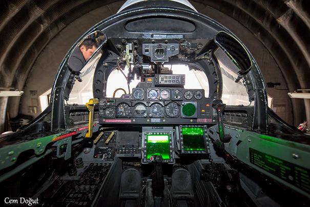 F-4E 2020 Terminatör Savaş Uçağımızın Arka Kokpiti (Cem Doğut Bey'e teşekkürler)