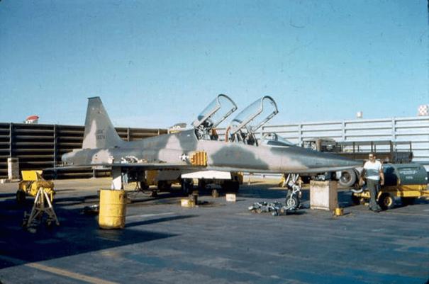 Birleşik Devletler Hava Kuvvetleri'ne bağlı F-5 savaş uçağı