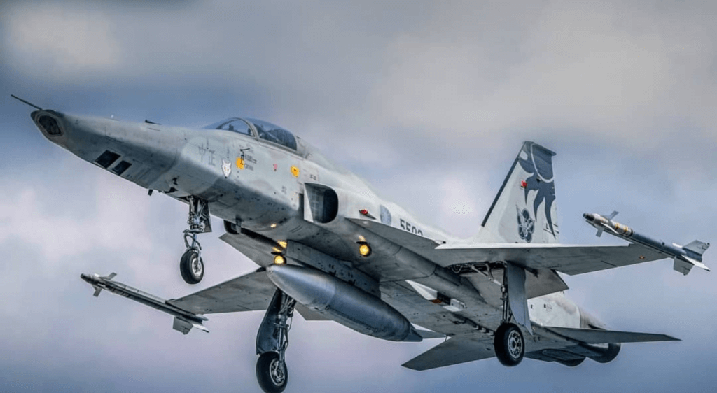 Tayvan Hava Kuvvetlerine bağlı RF-5E savaş uçağı