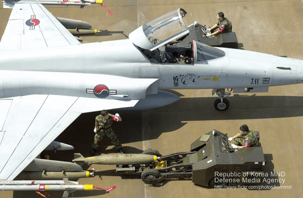 Kore Cumhuriyeti Hava Kuvvetleri'ne bağlı F-5E Tiger II savaş uçağı