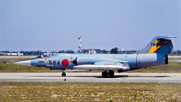 Japonya Hava Öz Savunma Kuvvetlerine (JASDF) bağlı F-104J savaş uçağı
