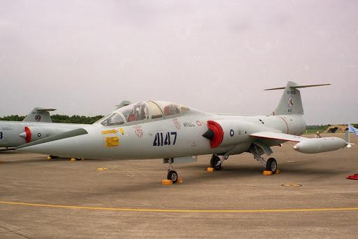 Tayvan Hava Kuvvetlerine (ROCAF) bağlı F-104DJ savaş uçağı