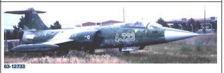 63-12733 kuyruk numaralı F-104 Eskişehir Hava Üssünde terk edilmiş halde