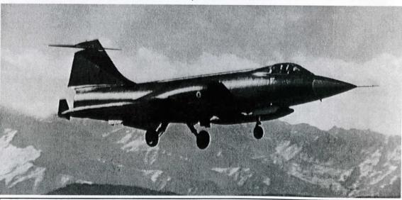 Bora 1 projesi kapsamında  142. Filo envanterine giren F-104S savaş uçağı