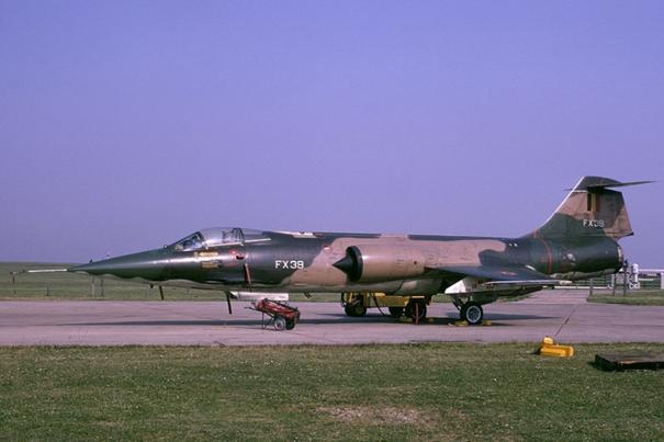 Belçika Hava Kuvvetleri'nde görev yapmış F-104 Starfighter savaş uçağı
