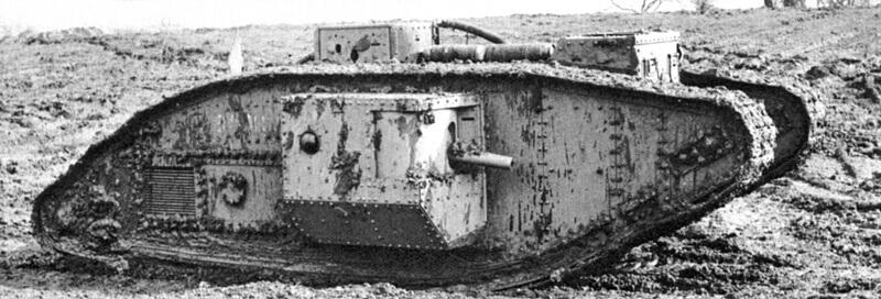 İngiliz Mark I tank (Erkek model)
