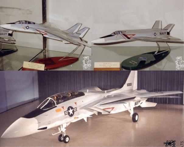 F-14 Tomcat 'in atası sayılabilecek 2000 farklı tasarımdan birkaçı