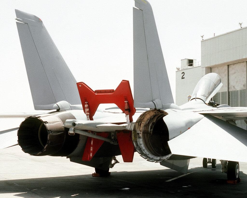 F-14D'nin motor  ve arka görünüşü