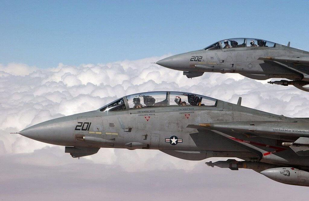 F-14D Super Tomcat Lazer Güdümlü Mühimmat ile uçarken