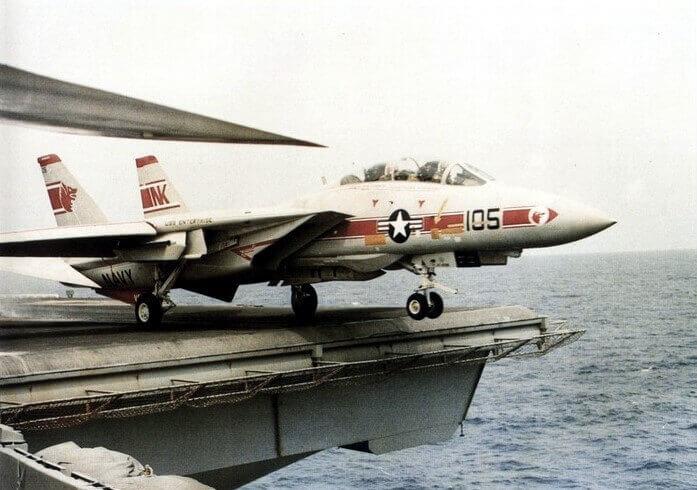 F-14 Tomcat Uss Enterprise'den fırlatılırken/kalkış yaparken