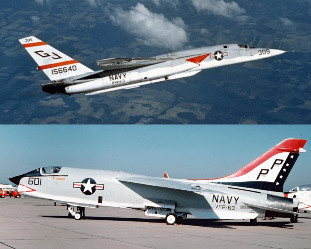 Birleşik Devletler Donanması'nda görev yapmış RA-5C Vigilante ve RF-8G Crusader uçakları