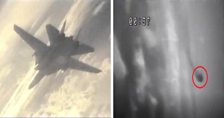 F-14'lerin düşürdüğü bir Mig-23'ün VTR ekranındaki görüntüsü