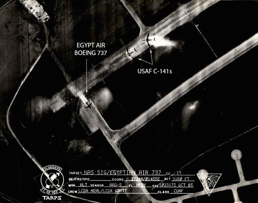 TARPS podlu F-14 'den çekilen hava fotoğrafı