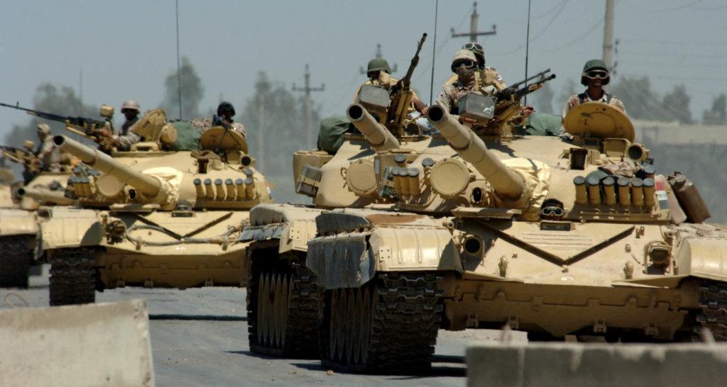 Irak Kara Kuvvetleri'ne bağlı T-72 Ana Muharebe Tankları