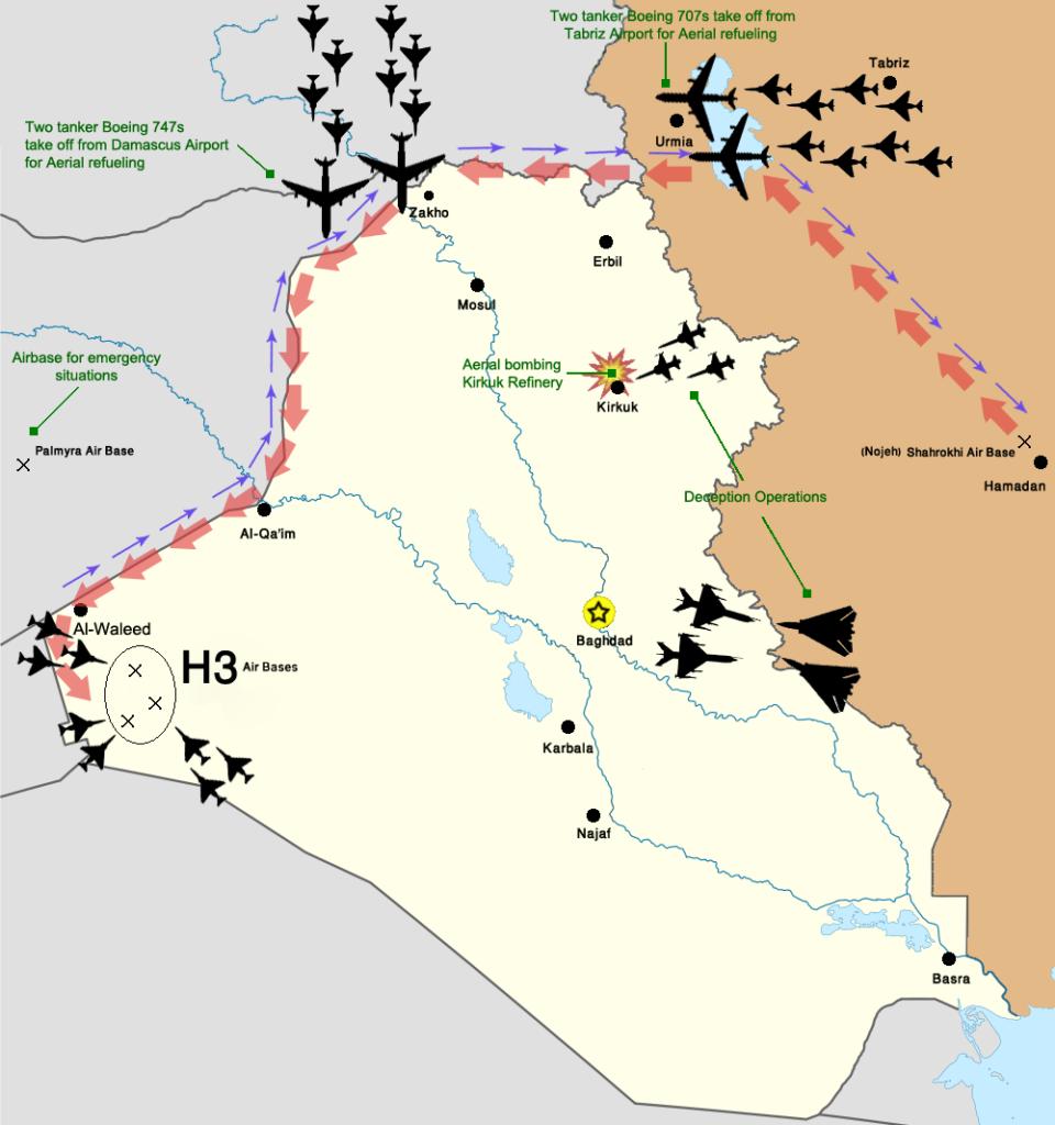 H3 operasyonunu anlatan bir resim