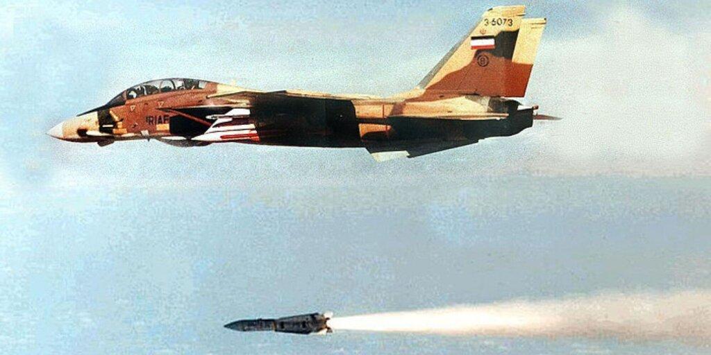 İran F-14 Tomcat 'inden Aim-54 Phoenix atışı