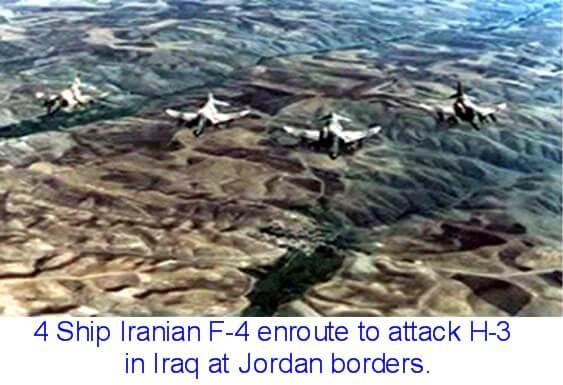 H3 saldırısına giden F-4 savaş uçakları