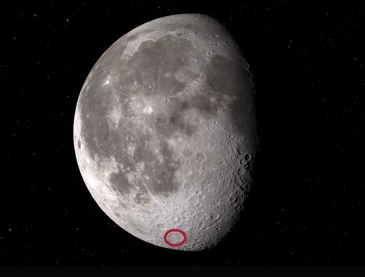 SOFIA nın su keşfettiği yer- Clavius krateri