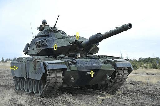 Reaktif zırh ile modernize edilmiş M60T Sabra