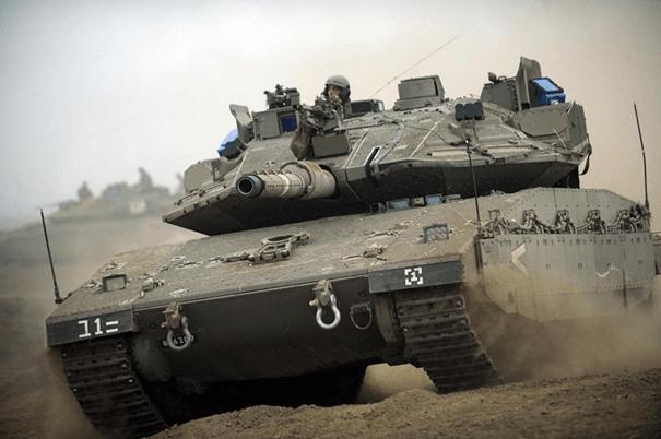 NxRA reaktif zırh kullanan İsrail Merkavası